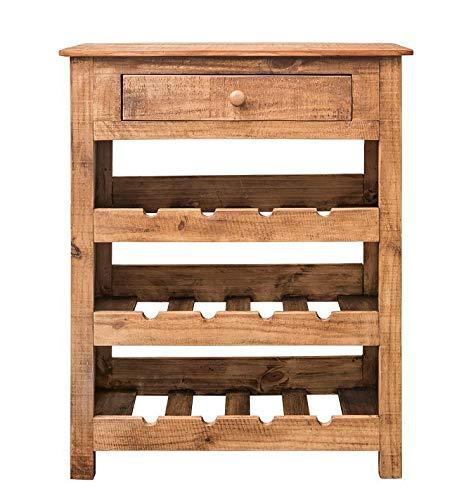 Main Möbel Weinregal 76x92cm 'Siesta' Pinie gewachst