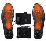 Semelles thermiques chauffantes fonctionnant sur batterie avec 3 niveaux de réglage de la température, taille : 35-48 (découpable)