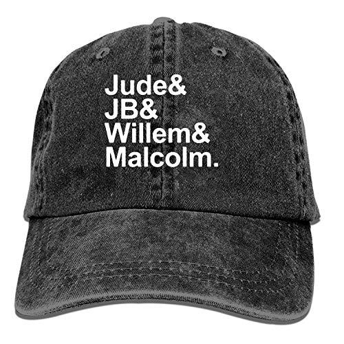 ETXHU Baseball Caps voor Heren Vrouwen-Jude JB Willem Malcolm Sportpet Verstelbare Trucker Cowboy Hoed