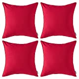 MIULEE Pack of 4 Decorative Outdoor Waterproof Pillow Cover...