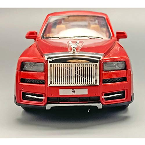 Car Model Scale 1:32 / Compatible with Rolls Royce Cullinan/Sound Light Pull Back Function Metal Car Body Vehicle Model (Color : Red)