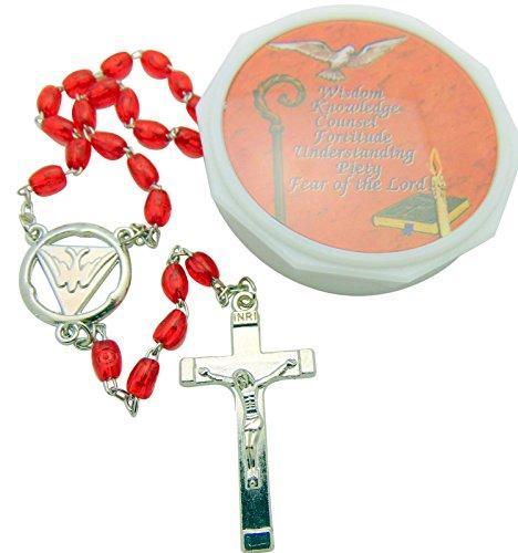 Confirmación Rosario regalo rojo Paloma y caso para él o ella