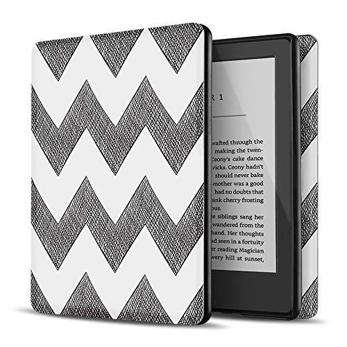 TNP Hülle für All-New Kindle 10. Generation 2019, Schutzhülle Tasche für Amazon Kindle eReader 6' mit Auto Einschlafen/Aufwachen Funktion, Ultradünne Superleichte Hülle eBook, Chevron