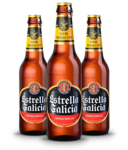 Estrella Galicia Cerveza Sin Gluten - Pack de 24 botellas x 330 ml - Total: 7.92 L