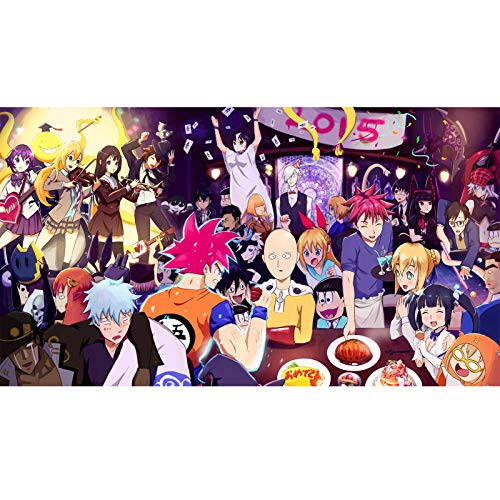 Puzzle Jigsaw One Punch Man 300/500/1000 Piezas para Adultos Manga Figura Puzzles Juguete Familia Anime Fans De Amigos Regalo Puzzle Shop (Color : A, Size : 300PC)