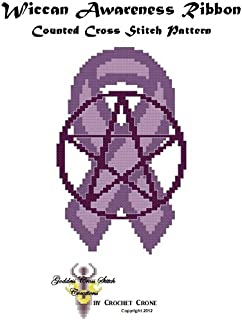 Wiccan Awareness Ribbon Counted Cross Stitch Pattern