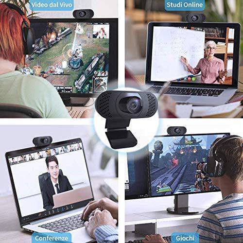 wansview PC-Webcam mit Mikrofon, 1080P, Webcam für Laptop, Computer, PC, Desktop mit automatischer Lichtkorrektur, für Live-Videos, Konferenzen, Videoanrufe, Online-Vorlesungen und Spiele ...
