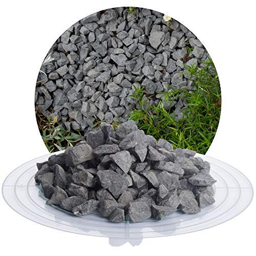 Schicker Mineral Basaltsplitt anthrazit 25 kg in den Größen 8-16 mm, 16-22 mm, 16-32 mm, 32-56 mm, ideal zur Gartengestaltung, schwarzer Naturstein Splitt (Basalt Splitt, 11-16 mm)