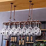 HLWJXS Bar Soporte para Botellas Estante para Vino Estante para Vino Estante para Cristalería Estante para Vino Colgante Estante para Copa Colgante Estante para Copas de Vino Alenamiento Fácil de Ins