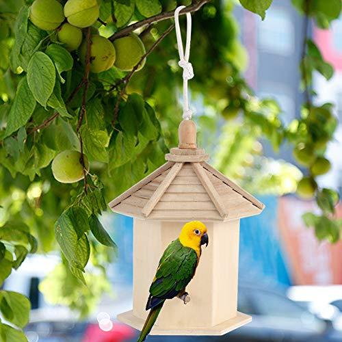【𝐑𝐞𝐠𝐚𝐥𝐨 𝐝𝐞 𝐍𝐚𝒗𝐢𝐝𝐚𝐝】 Casita para pájaros de Madera, Caja de pájaros, artículos para el hogar, casita para pájaros Colgante, Madera de Paulownia Fortunei para Material Transpirable, Medid