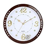 Reloj vintage grande para sala de estar, diseño creativo, color marrón