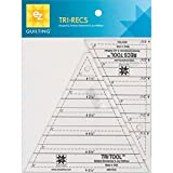 Tri-recs tools are thick and sturdy so they will stand up to years of wear This 2 piece set makes it easy to make Triangles within squares and divided rectangles Includes one 6 by 6-3/4 by 6-3/4 triangle with 1/4 seam allowance built in and one 6-1/2...