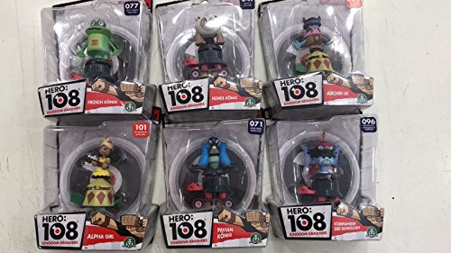 Giochi Preziosi 70230351 – Hero 108 Figurine avec 3 Cartes de Jeu 22 Assortis