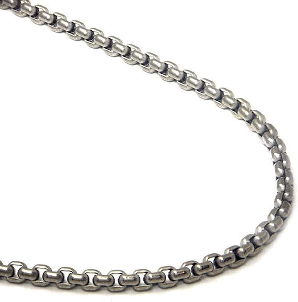True Titanium 4MM Box Chain Link Necklace