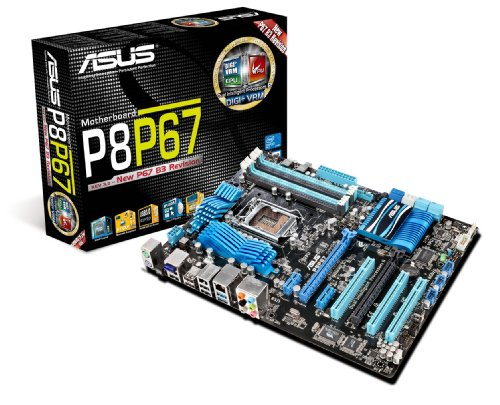 ASUS P8P67 LGA 1155 SATA 6Gbps and USB 3.0 Supported Intel P67 DDR3 2400 ATX Motherboard