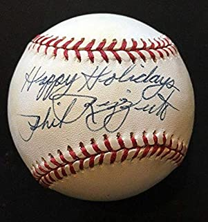 Phil Rizzuto Signed Baseball - A L Ins Happy HOLIDAYS Mint Holo - Steiner Sports Certified - Autographed Baseballs