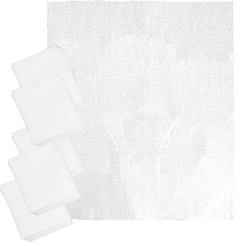 com-four® 50x WC Auflage Einweg Papier - Einweg Toilettenauflage für unterwegs - WC Sitzschutz - WC Hygiene - 44x37cm (50 Stück)