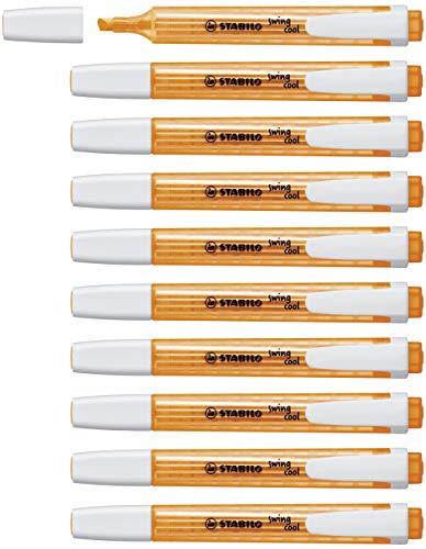 Evidenziatore - STABILO swing cool - Confezione da 10 - Arancione