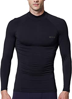 Mens Mock Compression Baselayer Top Cool Dry Long-Sleeve Shirt EX-T02
