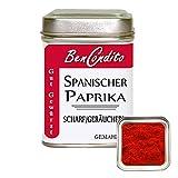 BenCondito I Scharfes Geräuchertes Paprikapulver - Spanischer Paprika Pimenton geräuchert Dulce 100 Gramm Dose