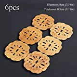 JINZHAO Drink Coasters Wooden Coffee Cup Placemats Table Mat Kongfu Tea Accessories Heat Resistant Round Hollow Home Decoration,Knot 6 Pieces