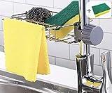 porta spugna da cucina in acciaio inossidabile porta spugna per rubinetto scolapiatti caddy per set lavello da cucina (7,48 pollici)