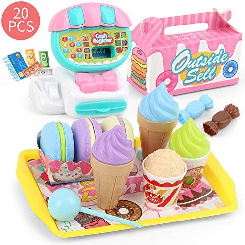 Kinder Tun So, Als Würden Sie Spielzeug Spielen, Kaufen Registrierkasse Obst Gemüse Gemüse Dessert Spielzeugset Eltern-Kind Interaktives Rollenspiel Spielzeug Geburtstagsgeschenk Dessert#.