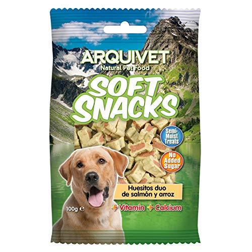 Arquivet Soft Snacks para Perro Huesitos Duo de salmón y arroz 100 g