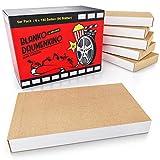 HELDSON® Premium Daumenkino Blanko Set [6er Pack mit je 180 Seiten] Flipbook Kit Set mit hochwertiger und Stabiler Bindung- Daumenkino Kinder Mitgebsel