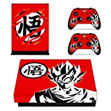 Vanknight Xbox One X Console Remote Controllers Skin Set Dragon Ball Vinyl Skin Decals Sticker Cover for Xbox One X(XB1 X) Console