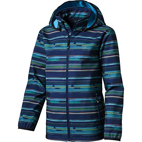 Color Kids Kinder Softshelljacke All Over Print Kalado, Hawaiian Surf, 140