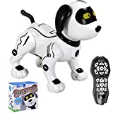 Contixo R3 Robot Dog, Walking Pet Robot Toy Robots for Kids, Remote Control, Interactive Dance, Voice Commands, RC Toy Dog for Boys and Girls (Black)