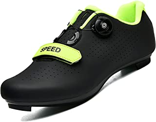 Cycling Shoes for Men Women Road Riding Rotating Shoe Buckle Breathable Cleat Compatible SPD Indoor Cycling Shoes