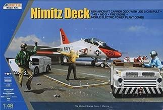 KIN48057 1:48 Kinetic Nimitz Deck (T-45 Goshawk, Carrier Deck w/JBD & Catapult, MD3, Fire Engine, Tow Tractor, Engine Starter) [MODEL BUILDING KIT] by Kinetic