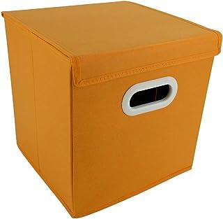 Dragonaur Boîte de rangement pliable avec housse Orange