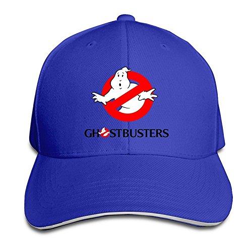 Ghostbusters Adjustable Sandwich Peaked Baseball Cap Hat RoyalBlue