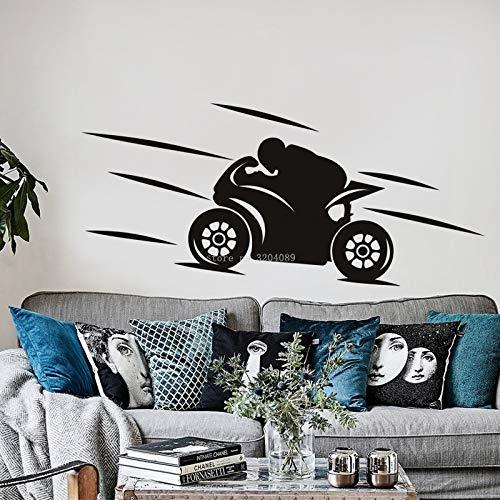 JXLLCD Race Bike Wandaufkleber Dirt Racer Aufkleber Home Decor Mädchen Schlafzimmer Sport Supreme Abnehmbare Kunst Wandbild 121x56cm
