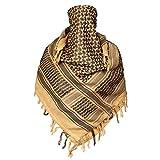 【Ludus Felix】アフガンストール シュマグ ストール スカーフ ミリタリー サバゲー装備 大判 Cotton 100% (キャメル)