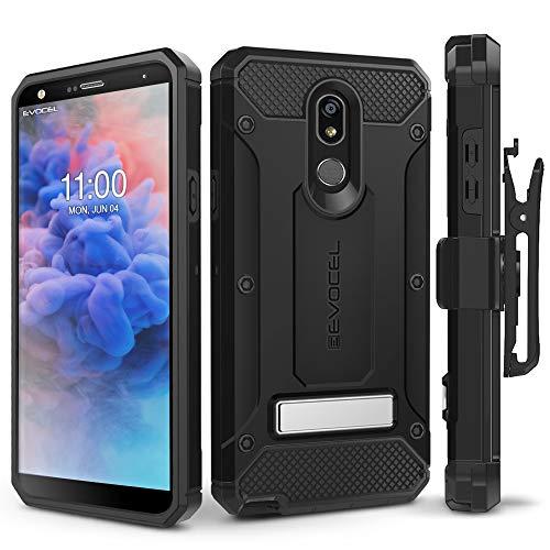 LG Stylo 5 Case, Evocel [Explorer Series Pro] Premium Full Body Case with Glass Screen Protector, Belt Clip Holster, Metal Kickstand for LG Stylo 5, Black
