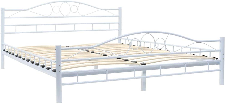 VidaXL Metallbett Lattenrost 160x200 cm Bettgestell Bett Doppelbett Bettrahmen