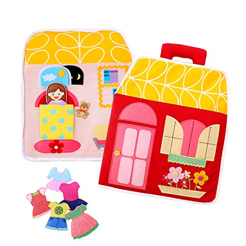 LoveLnE Quiet Book, Busy Book, Carry Home ,Dollhouse Bag, Educational Toy, Toddler Activity Book, Toy Book