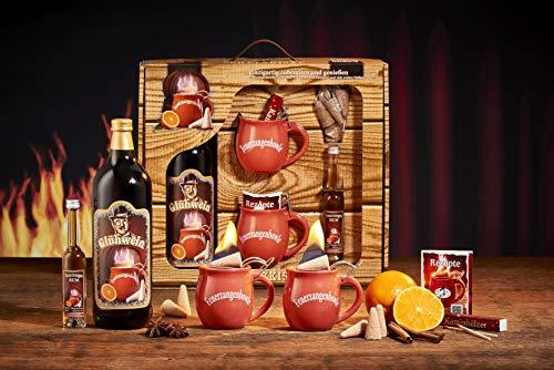 Feuerzangentasse Geschenkset, Schatzkiste, Terracotta - für Feuerzangenbowle