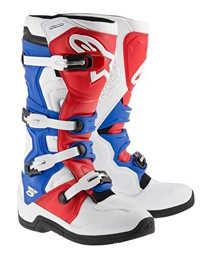 Alpinestars Tech-5 Boots (10) (WHITE/RED/BLUE)