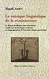 La musique linguistique de la réminiscence - Le Ménon de Platon entre réinvention cratyléenne de la langue commune et réappropriation de l'ancienne langue parénétique