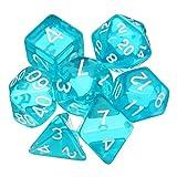 Multifunktions Dice Polyhedral würfelt Set Durchlässiger RPG Gadget Mehrseiten-Würfel mit Beutel...