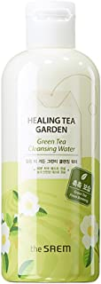 [the SAEM] Healing Tea Garden Cleansing Water Green Tea 300ml (10.14 fl.oz) - One Step No Wash Cleansing Water, AHA Elements Remove Dead Skin Cells, Skin Brightening and Purifying