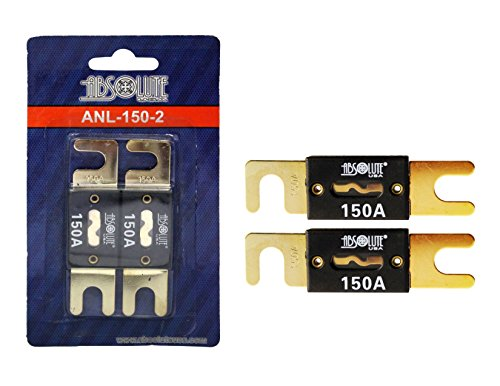 Absolute USA BESFAV-ANL150-2 ANL Fuses 150 Amp Gold Plated, 2 Pack