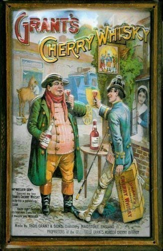 Grants Cherry Whisky metalen bord bord bord metaal tin sign 20 x 30 cm