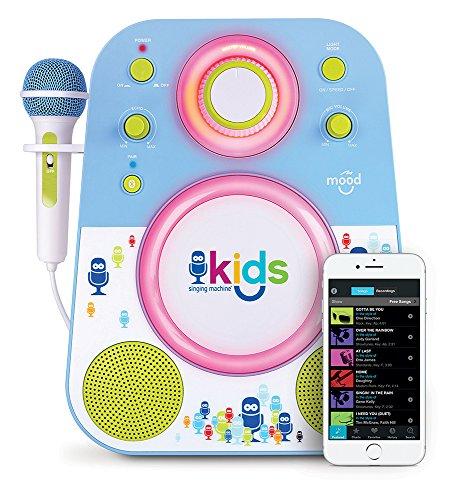 Singing Machine SMK250BG Bluetooth Sing Along Kids Karaoke Machine With LED...