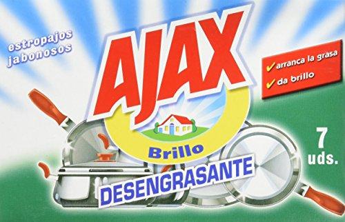 Ajax - Estropajos jabonosos (7 unidades) - [Pack de 12]